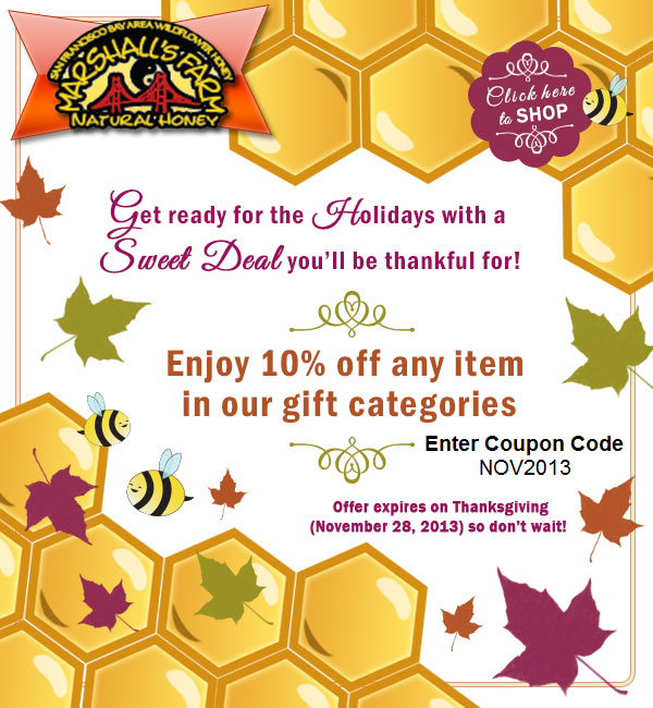 Shop for Raw, Califonia Local Honey this Holiday Season - Marshall's Farm Honey